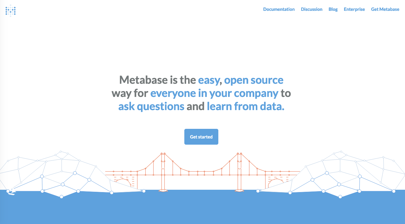 Client dashboard tools: Metabase